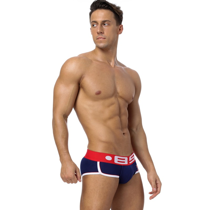 85 Brand Fashion hot elastic popular brand BS Underwear breathable cotton sexy gay spandex cueca hombr 5