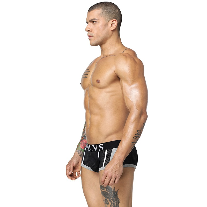 85 Brands Quality Cotton Boxers Sexy Mens Underwear Shorts Mesh Male Underpant Men Sleepwear Underwears Breathable 4