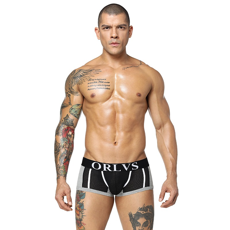 85 Brands Quality Cotton Boxers Sexy Mens Underwear Shorts Mesh Male Underpant Men Sleepwear Underwears Breathable 6