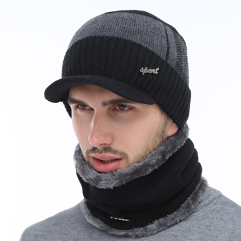 AETRUE Winter Hats Skullies Beanies Hat Winter Beanies For Men Women Wool Scarf Caps Balaclava Mask 6