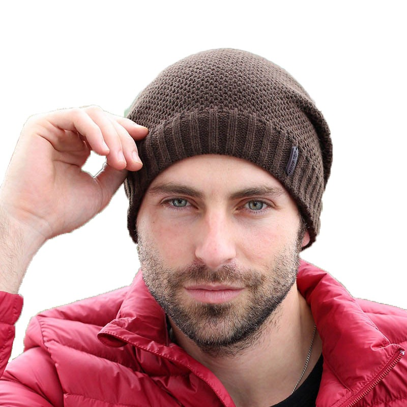 Adofeeno Autumn Winter Hats Knitted Skullies Beanie Hat Solid Gorros Hip Hop Beanies for Men Hats 1