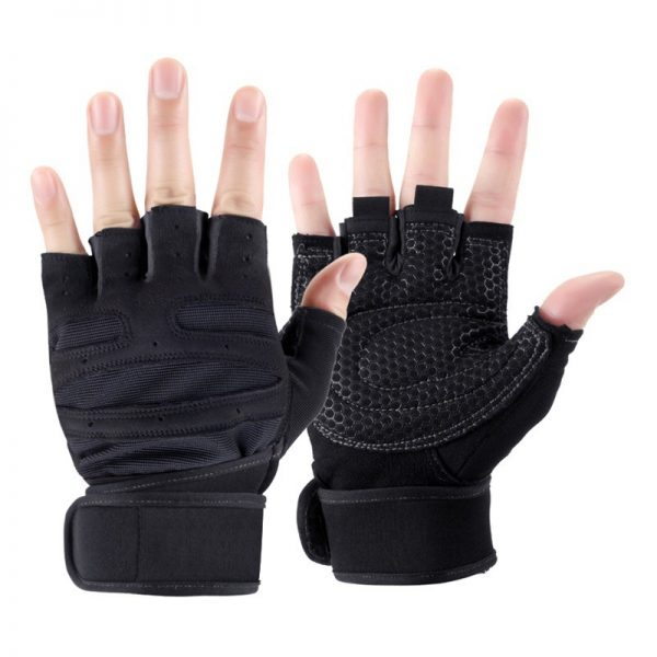 Body Building Fitness Gloves Mittens With Long Wrist Belt For Gym Sport Trainin Anti skid Tactical 1