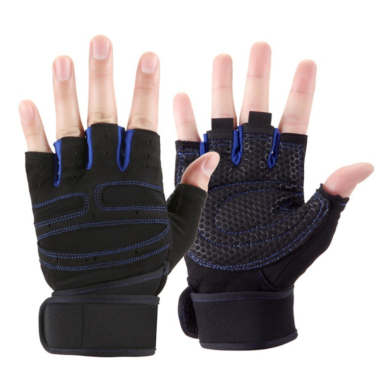 Body Building Fitness Gloves Mittens With Long Wrist Belt For Gym Sport Trainin Anti skid Tactical 2