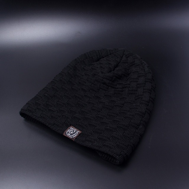 Casual Brand Men Winter Hat Beanie Hats Fur Warm Baggy Knitted Skullies Bonnet Ski Sports Adult 2.jpg 640x640 2