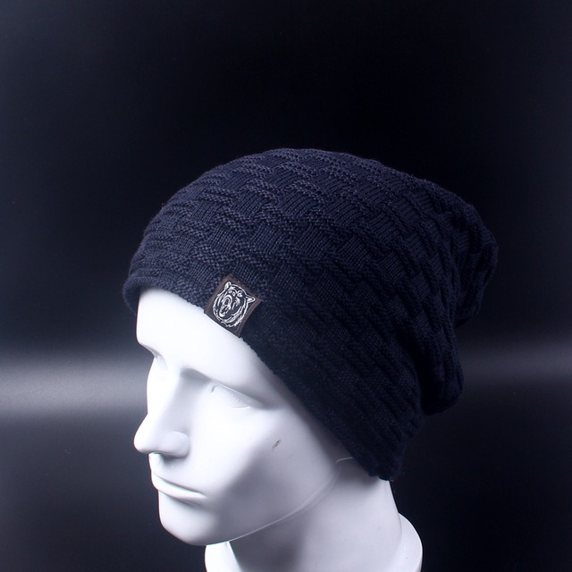Casual Brand Men Winter Hat Beanie Hats Fur Warm Baggy Knitted Skullies Bonnet Ski Sports Adult 3.jpg 640x640 3