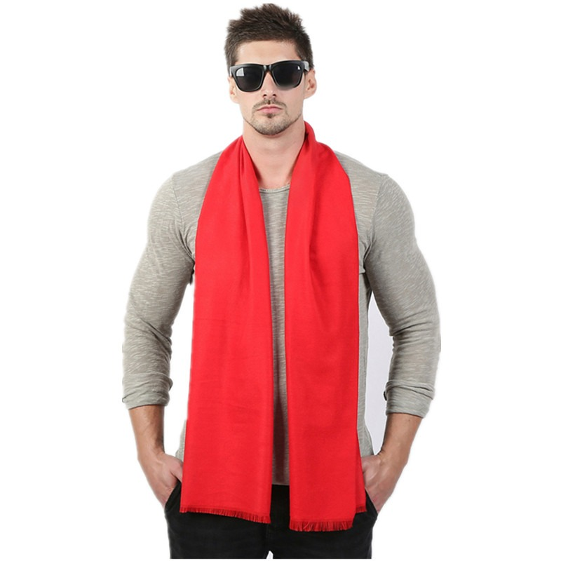 Fashion High Quality Solid Men Scarf Winter Autumn Scarfs Cashmere Warm Scarves 33cm 190cm Scarf 3