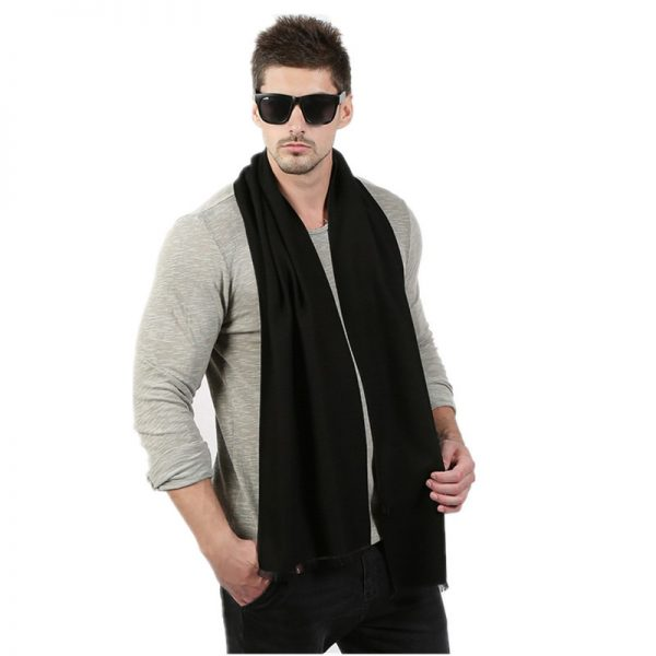 Fashion High Quality Solid Men Scarf Winter Autumn Scarfs Cashmere Warm Scarves 33cm 190cm Scarf 4