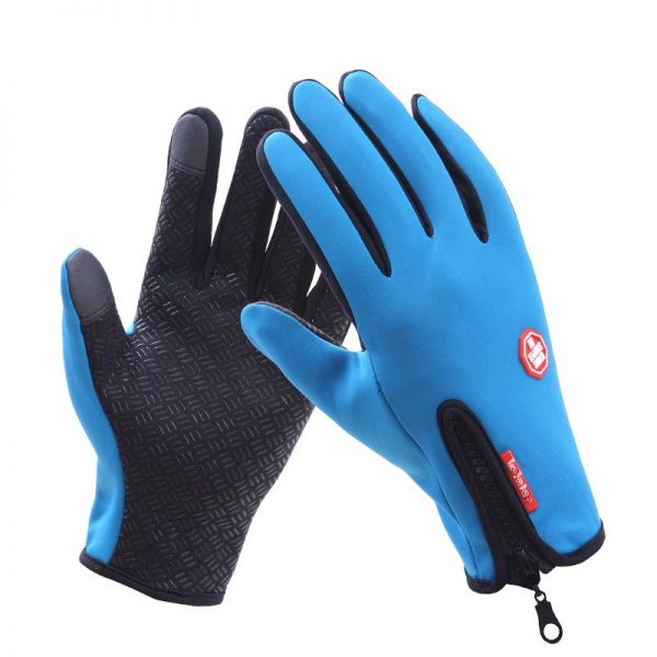 Gloves Men Women Classic Black Winter Gloves Mittens Driving Windproof Touch Screen Waterproof Military Guantes Tacticos 1
