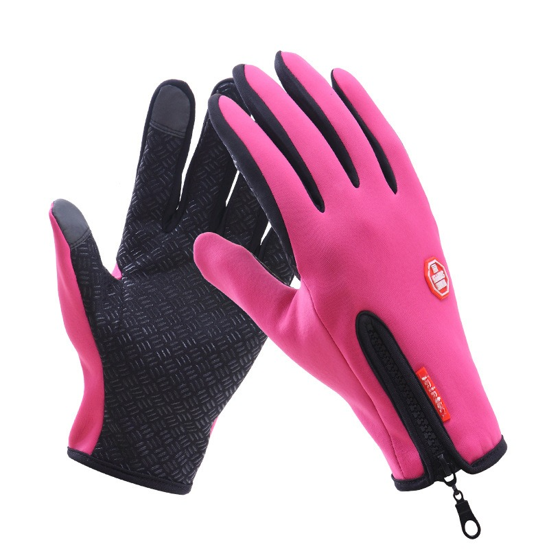 Gloves Men Women Classic Black Winter Gloves Mittens Driving Windproof Touch Screen Waterproof Military Guantes Tacticos 2