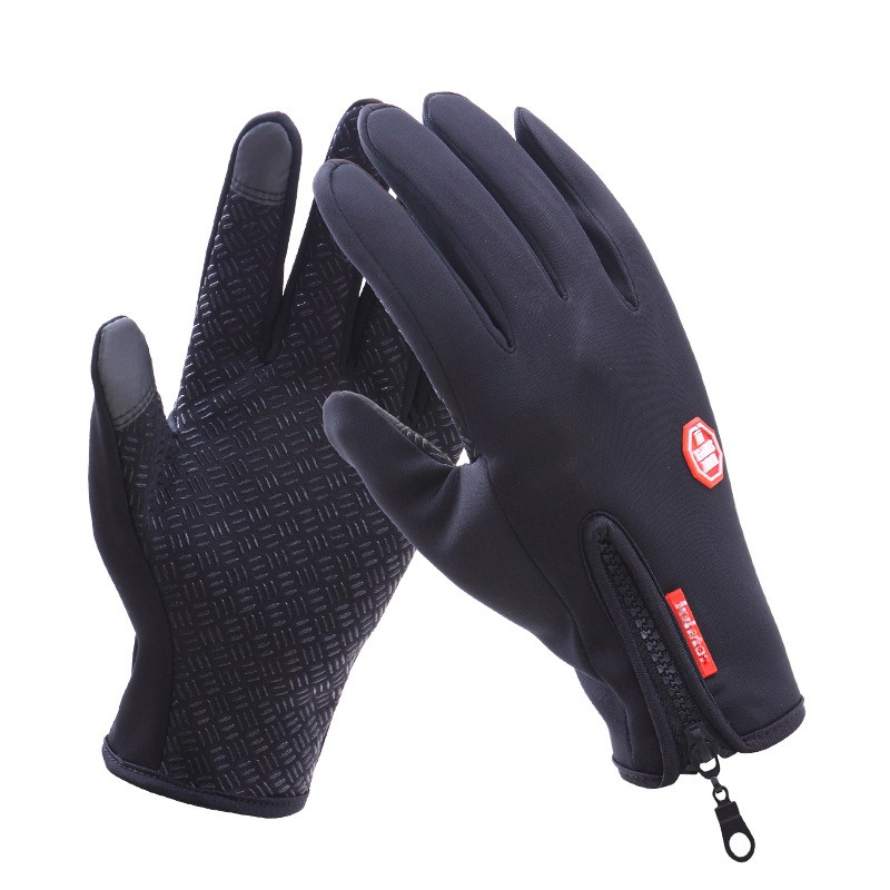 Gloves Men Women Classic Black Winter Gloves Mittens Driving Windproof Touch Screen Waterproof Military Guantes Tacticos