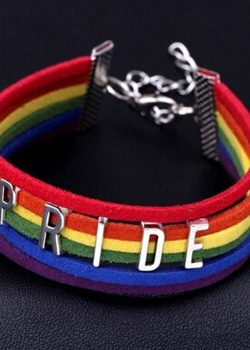 Hot Selling Handmade Pride LGBT Charm Heart Brainded Brancelet Rainbow Gay Pride Bracelet Lesbian Hot Pride