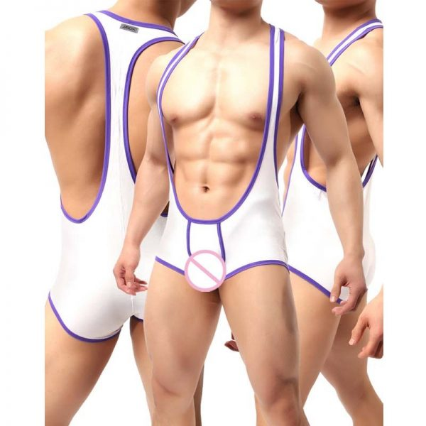 JJsox Brand Fashion 2018 Mens Wrestling Singlet Teddy Lingerie Bodysuit Jumpsuit Suspender Sexy Lingerie Hot Bodystocking