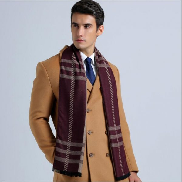 Leo anvi 2018 Fashion Design Plaid scarf Men cotton cashmere scarf Winter Warm Scarves Luxury Wrap