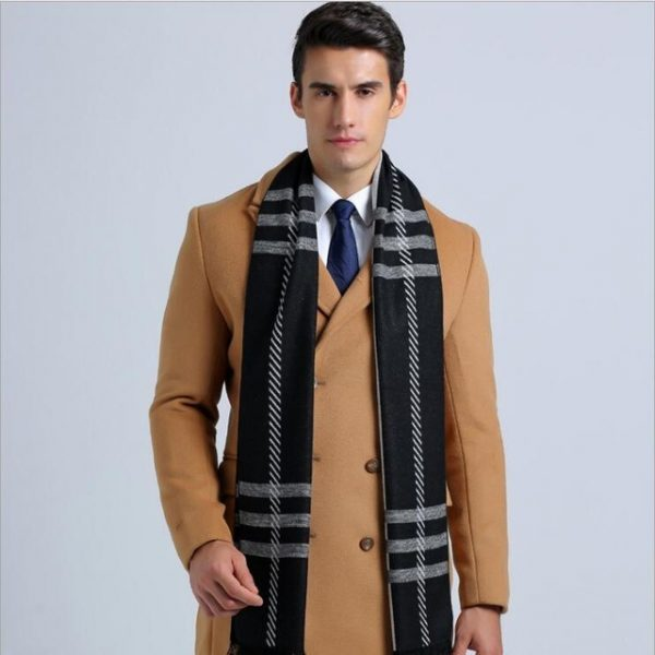 Leo anvi 2018 Fashion Design Plaid scarf Men cotton cashmere scarf Winter Warm Scarves Luxury Wrap.jpg 640x640