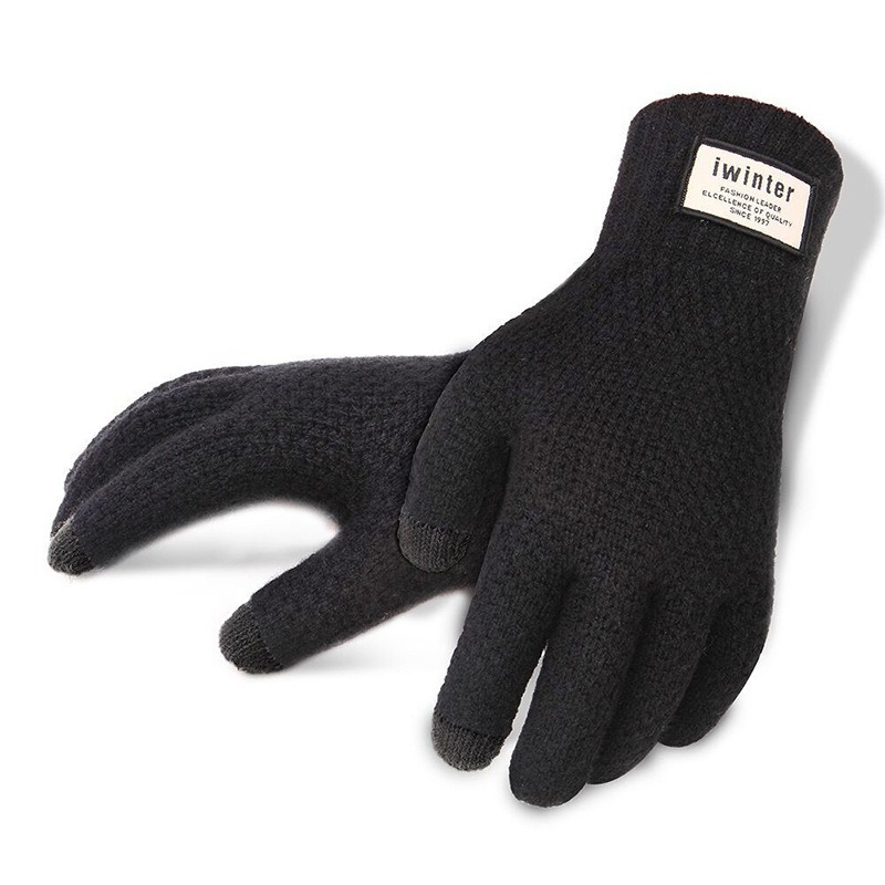 Men Knitted Gloves Touch Screen High Quality Male Thicken Warm Gloves Winter Autumn Men Mitten Men 1