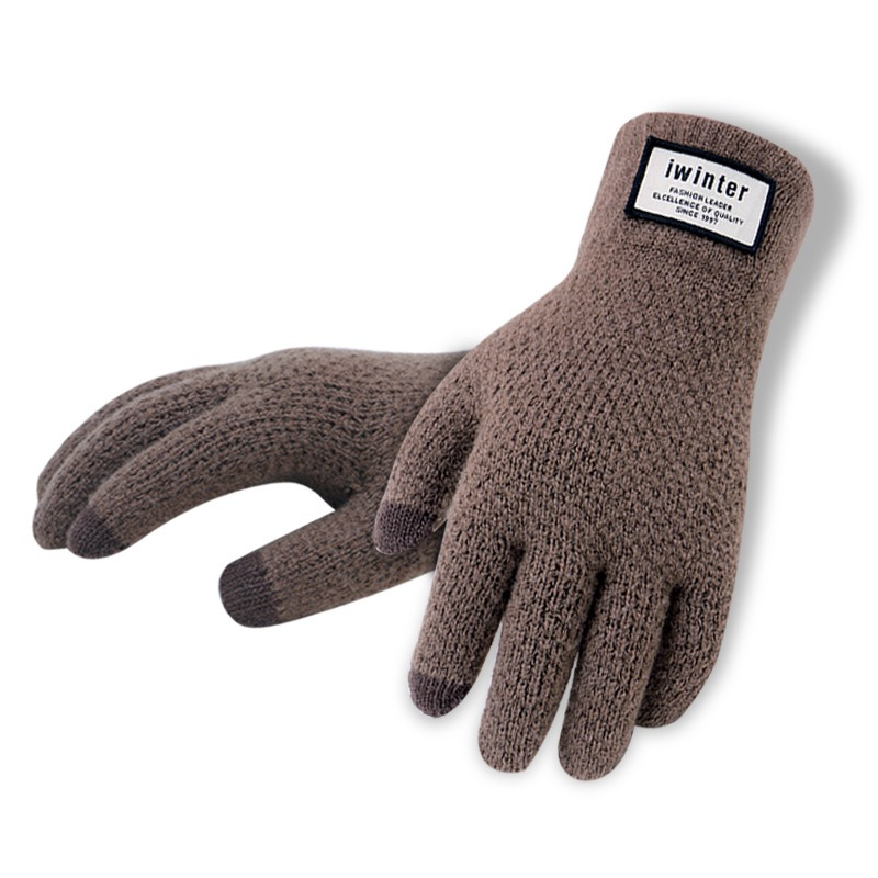 Men Knitted Gloves Touch Screen High Quality Male Thicken Warm Gloves Winter Autumn Men Mitten Men 3