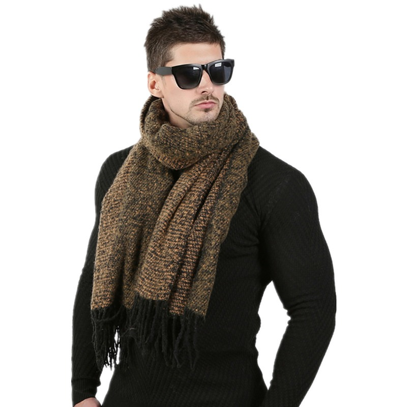 Newest 70cm 200cm Men Fashion Design Scarves Men Winter Wool Knitted Cashmere Scarf Couple s High 1