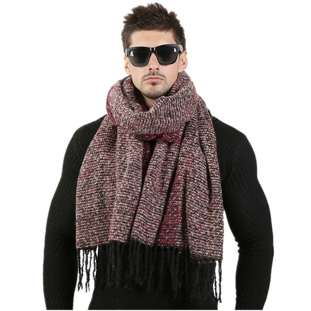 Newest 70cm 200cm Men Fashion Design Scarves Men Winter Wool Knitted Cashmere Scarf Couple s High 5.jpg 640x640 5