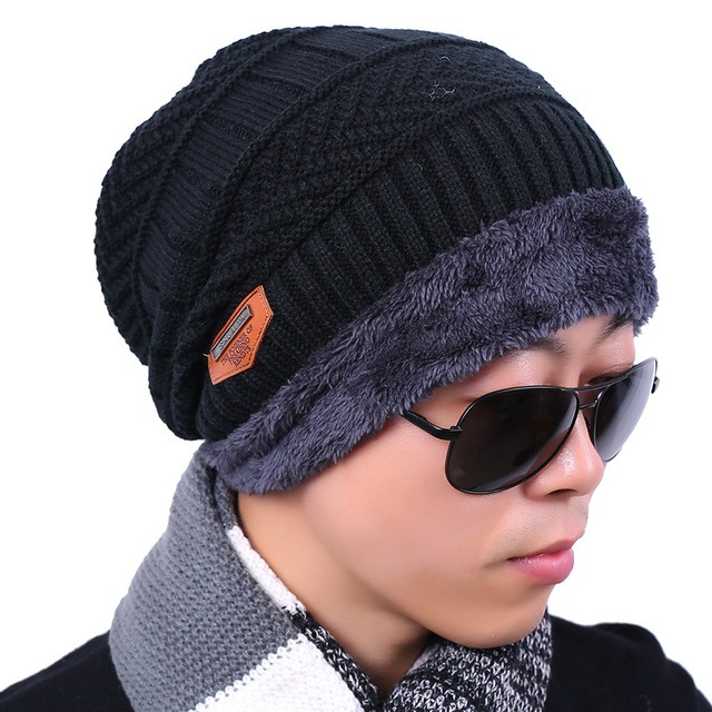 Peekymoce Beanie Knitted Winter Hat Female Scarf Beanies Hats Caps Skullies  Bonnet Femme For Men Women 97d5a67c90e