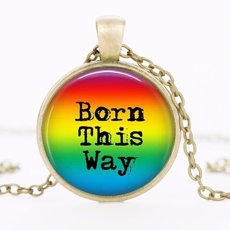 Rainbow Pride This Way Rainbow Transgender Lgbt Pride Gay Pride Acceptance Coming Out Jewelry HZ1 14