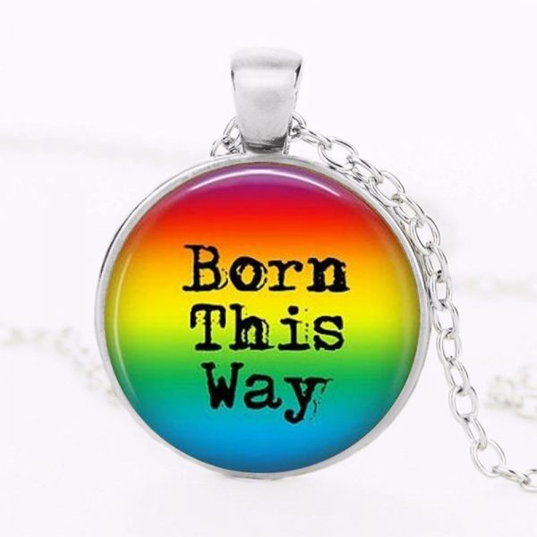 Rainbow Pride This Way Rainbow Transgender Lgbt Pride Gay Pride Acceptance Coming Out Jewelry HZ1 15