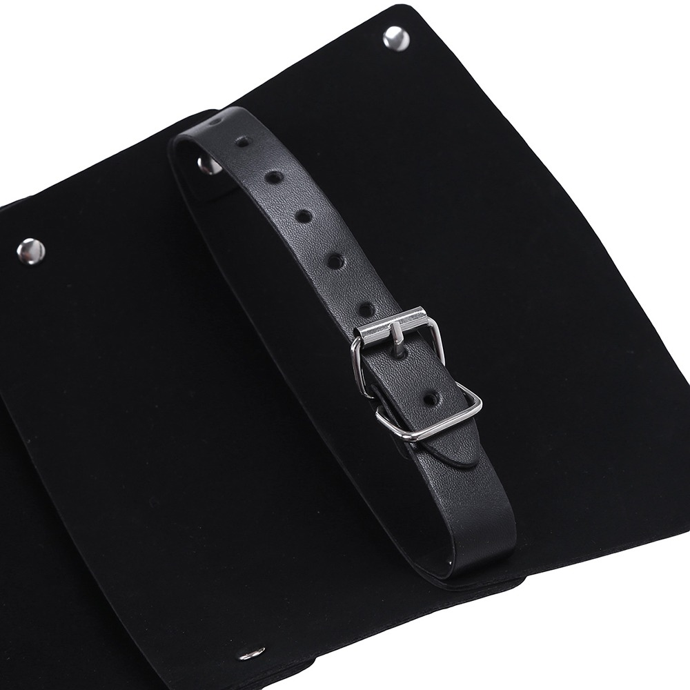 iEFIEL Men Sexy Gay Lingerie Faux Leather Adjustable Body Chest Harness Bondage Costume Shoulder Armors Buckles 4