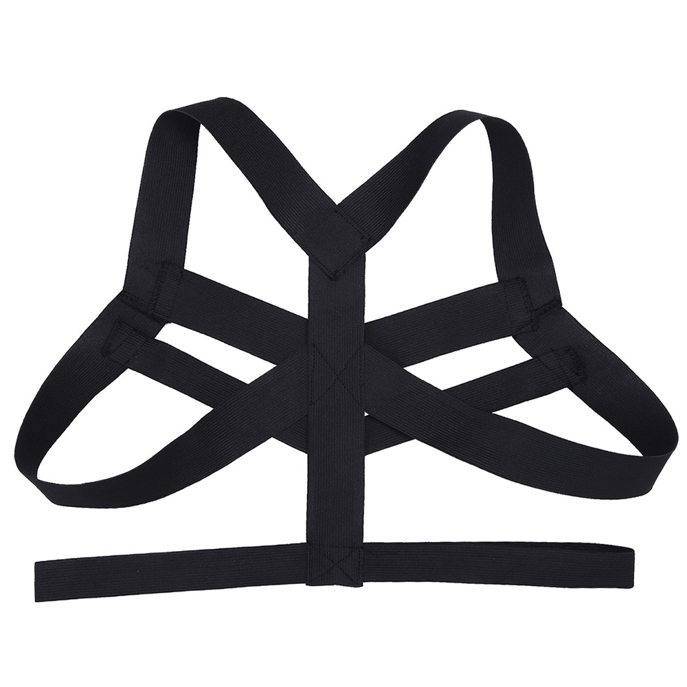 iEFiEL Brand Hot Mens Lingerie Body Chest Harness Bondage Costume Wetlook Halter Neck Nightclub Hollow Out 3