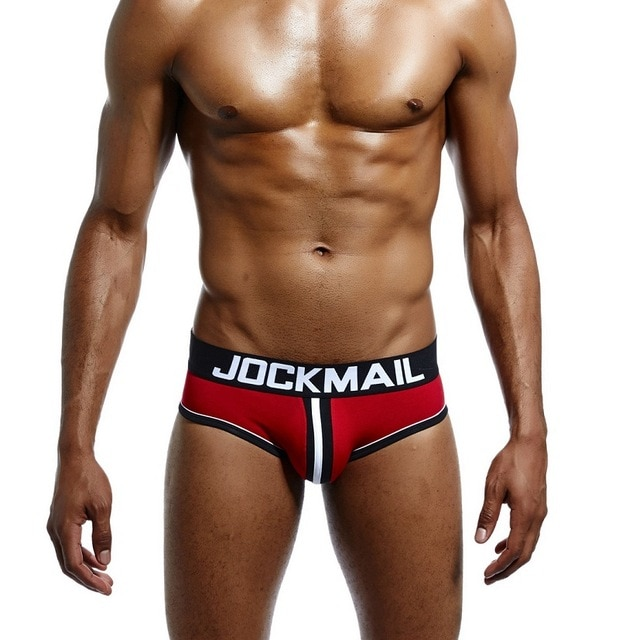 JOCKMAIL Brand Men Underwear open back Sexy DOUBLE PIPING BOTTOMLESS BRIEF Cotton Men Brief Backless Buttocks 2.jpg 640x640 2