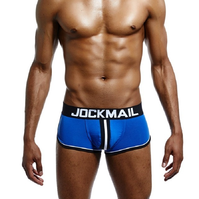 JOCKMAIL Brand Men open back underwear jockstrap sexy sissy panties Bottomless Men boxer shorts Cotton Backless 1.jpg 640x640 1
