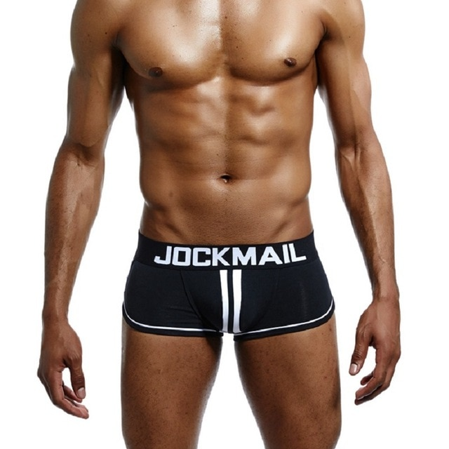 JOCKMAIL Brand Men open back underwear jockstrap sexy sissy panties Bottomless Men boxer shorts Cotton Backless.jpg 640x640