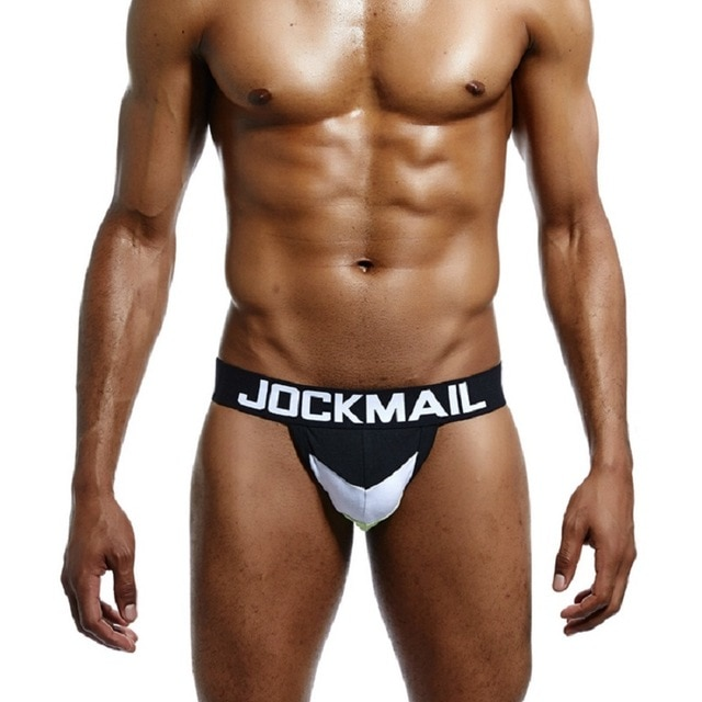 JOCKMAIL Brand Sexy Men Underwear WJ U Convex Jock Straps Patchwork Cotton G Strings Thong Low.jpg 640x640