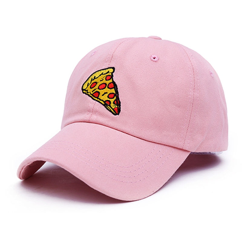 2017 new pizza embroidery Baseball Cap Trucker Hat For Women Men Unisex Adjustable Size dad cap 3