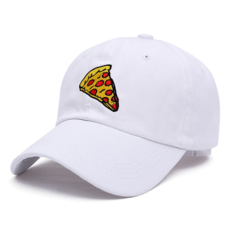 2017 new pizza embroidery Baseball Cap Trucker Hat For Women Men Unisex Adjustable Size dad cap 4