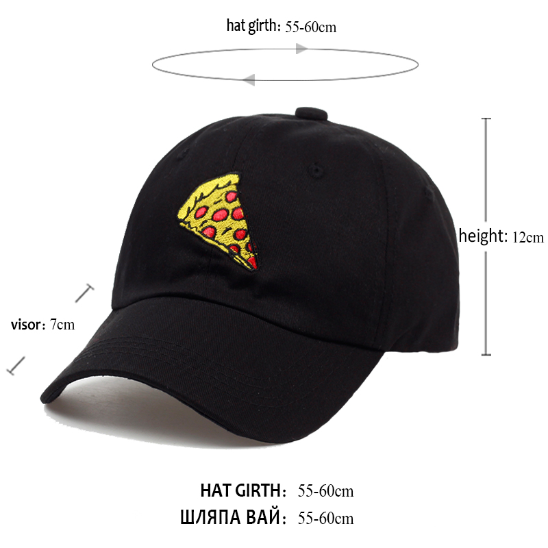2017 new pizza embroidery Baseball Cap Trucker Hat For Women Men Unisex Adjustable Size dad cap 5