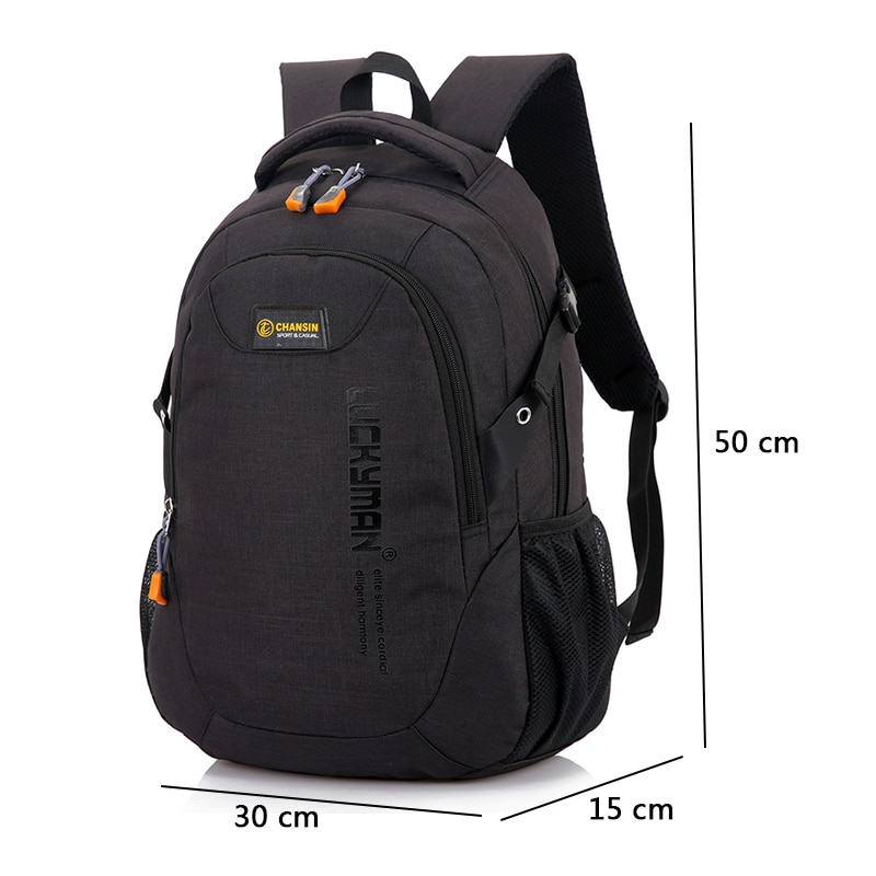 2018 New Fashion Men s Backpack Bag Male Polyester Laptop Backpack Computer Bags high school student 2