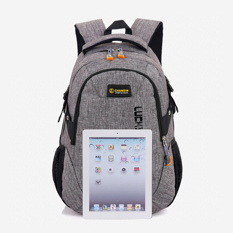 2018 New Fashion Men s Backpack Bag Male Polyester Laptop Backpack Computer Bags high school student 4
