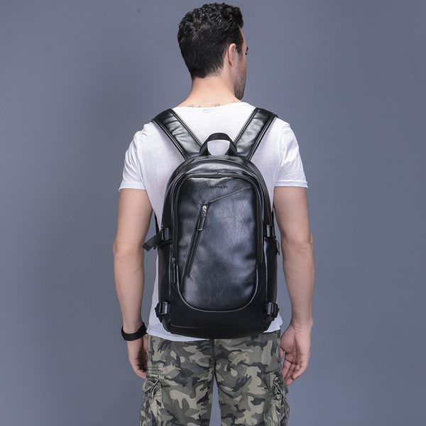 2018 VORMOR Brand waterproof 15 6 inch laptop backpack men leather backpacks for teenager Men Casual