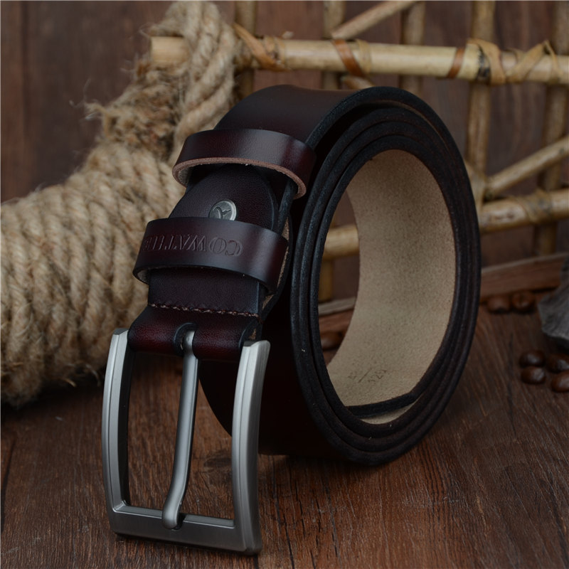 COWATHER 2017 men belt cow genuine leather luxury strap male belts for men new fashion classice 1