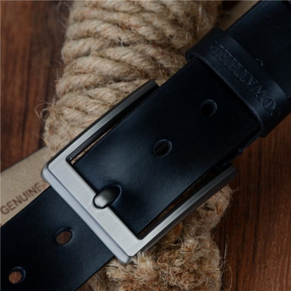 COWATHER 2017 men belt cow genuine leather luxury strap male belts for men new fashion classice