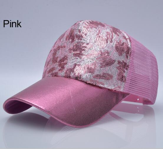 Casual Hats For Women Sequins Flashes 5 Panel Trucker Hip Hop Cap Girl s Breathable Mesh 12.jpg 640x640 12