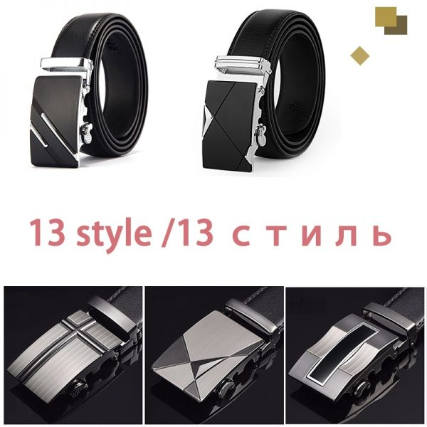 DWTS Belt Male Genuine Leather Strap Belts For Men Top Quality Automatic Buckle black Belts
