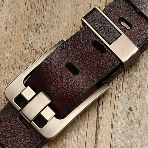 DWTS belt male leather belt men male genuine leather strap luxury pin buckle belts for