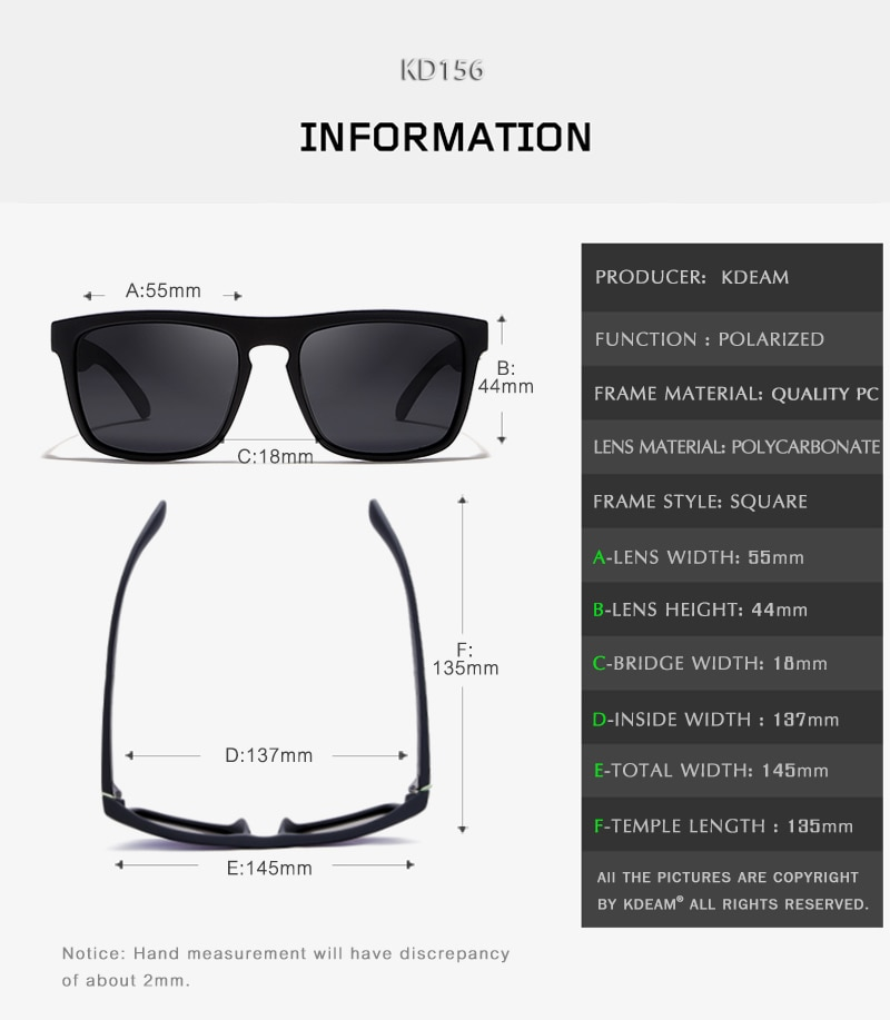 Fashion Guy s Sun Glasses From Kdeam Polarized Sunglasses Men Classic Design All Fit Mirror Sunglass 5