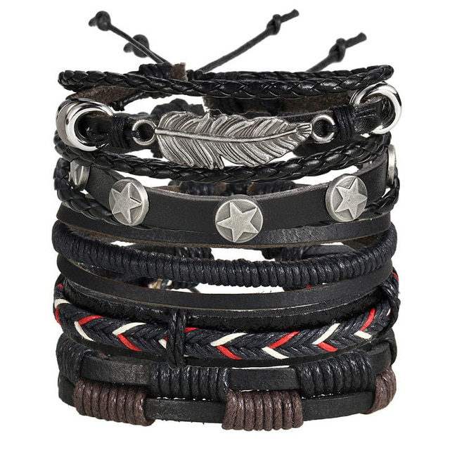 IF ME Fashion Charms Multiple Layers Owl Leather Bracelet Men Vintage Classic Rope Chain Wrap Arm 1.jpg 640x640 1