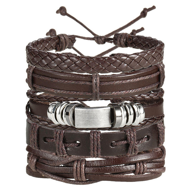 IF ME Fashion Charms Multiple Layers Owl Leather Bracelet Men Vintage Classic Rope Chain Wrap Arm 3.jpg 640x640 3