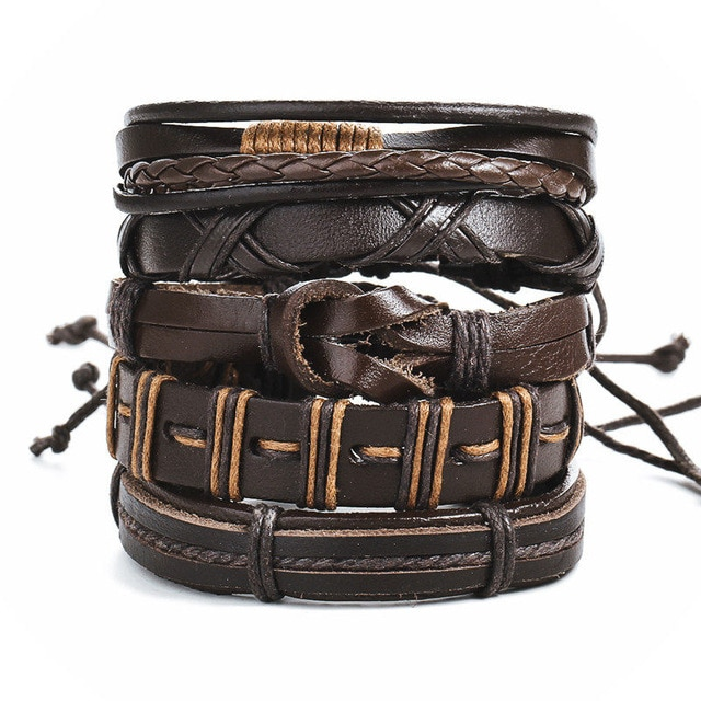 IF ME Fashion Charms Multiple Layers Owl Leather Bracelet Men Vintage Classic Rope Chain Wrap Arm 4.jpg 640x640 4