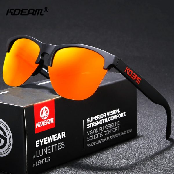 KDEAM Happy TR90 Polarized Sunglasses Life Sport Men Sun Glasses Anti Glare Elastic Frame Outdoor Goggles