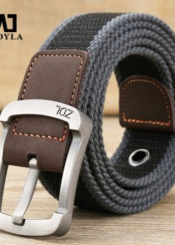 MEDYLA military belt outdoor tactical belt men women high quality canvas belts for jeans male luxury