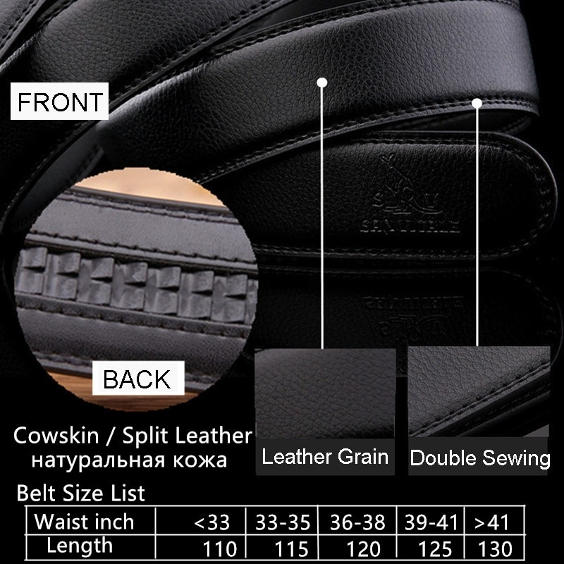 Men s Genuine Leather Belt High Quality New Designer Belts Men Luxury Strap Male Waistband Fashion 3