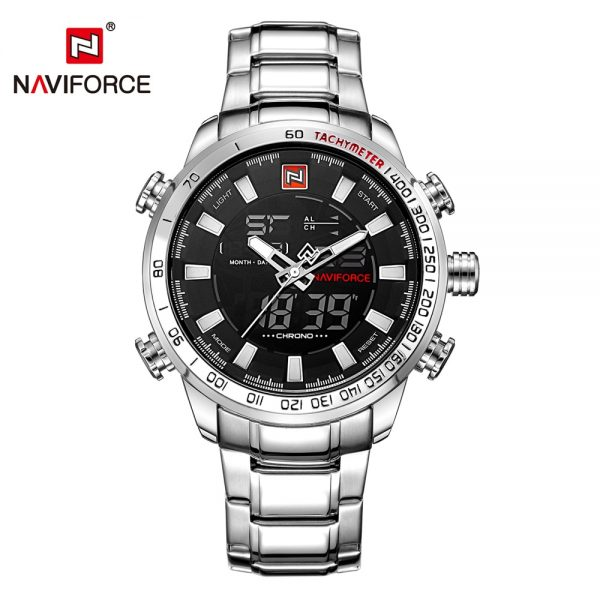 NAVIFORCE Mens Quartz Analog Watch Luxury Fashion Sport Wristwatch Waterproof Stainless Male Watches Clock Relogio Masculino 1
